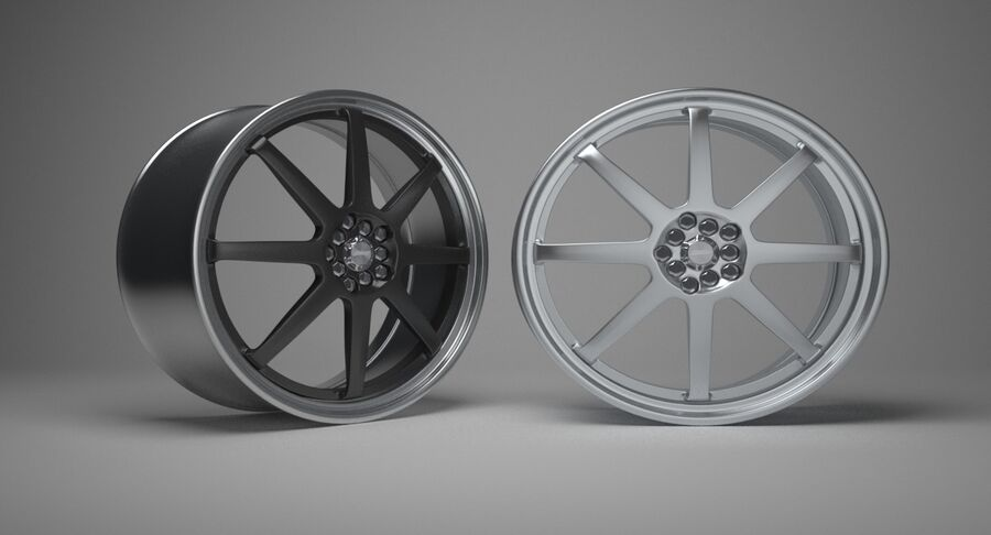 Speedy Wheels Rims Collection royalty-free 3d model - Preview no. 23