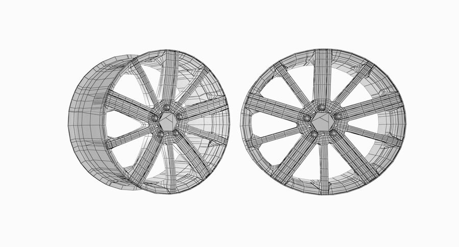Speedy Wheels Rims Collection royalty-free 3d model - Preview no. 33