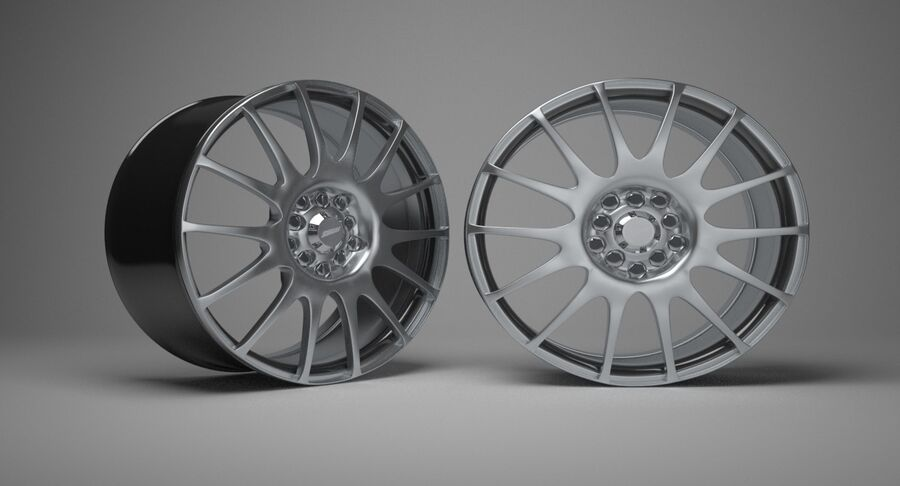 Speedy Wheels Rims Collection royalty-free 3d model - Preview no. 28