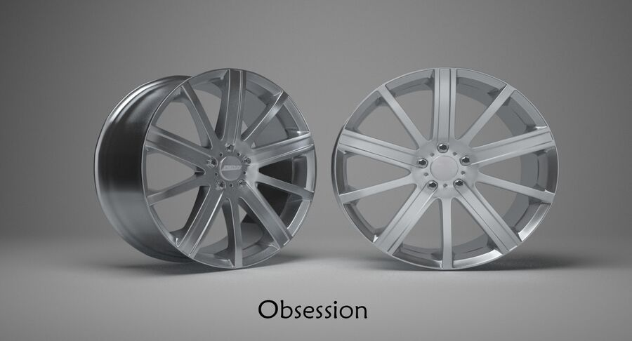 Speedy Wheels Rims Collection royalty-free 3d model - Preview no. 32
