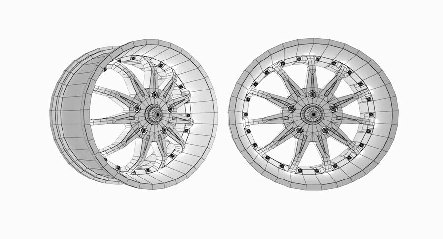 Speedy Wheels Rims Collection royalty-free 3d model - Preview no. 43