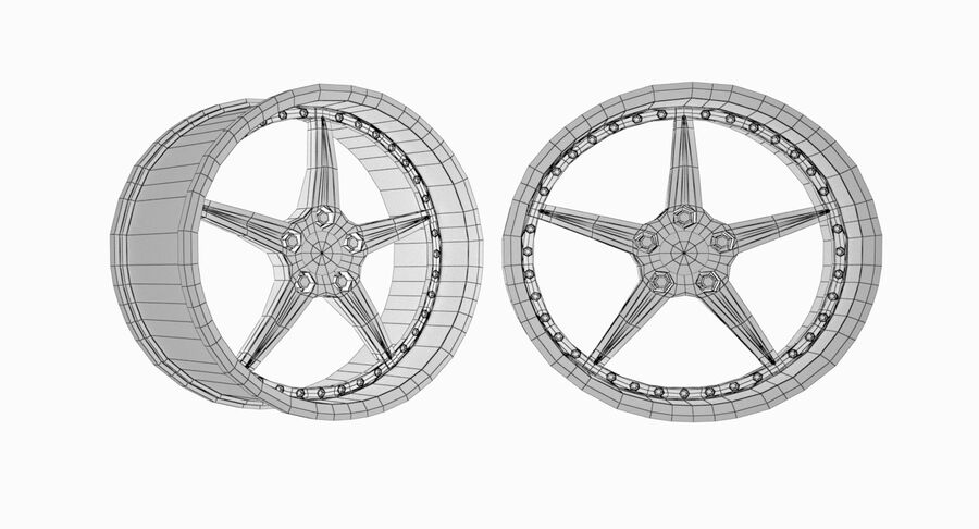 Speedy Wheels Rims Collection royalty-free 3d model - Preview no. 5