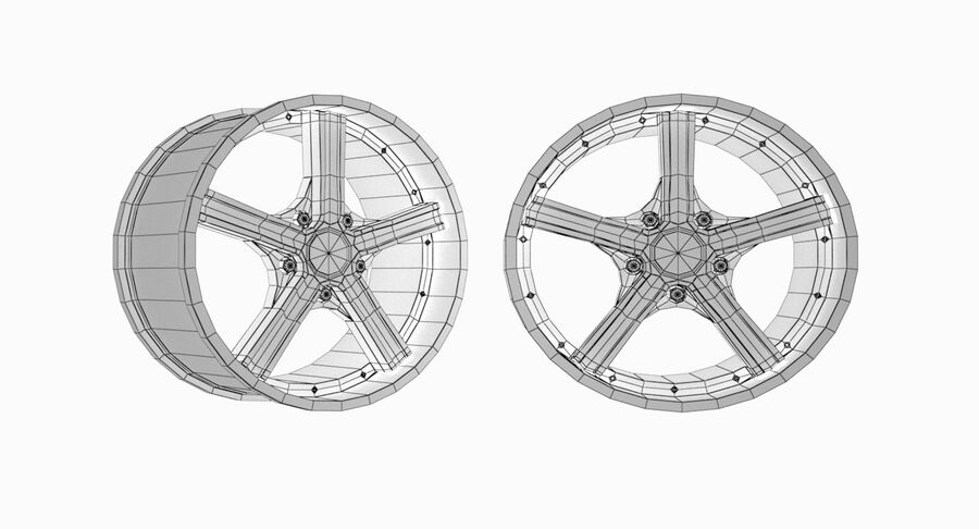 Speedy Wheels Rims Collection royalty-free 3d model - Preview no. 39