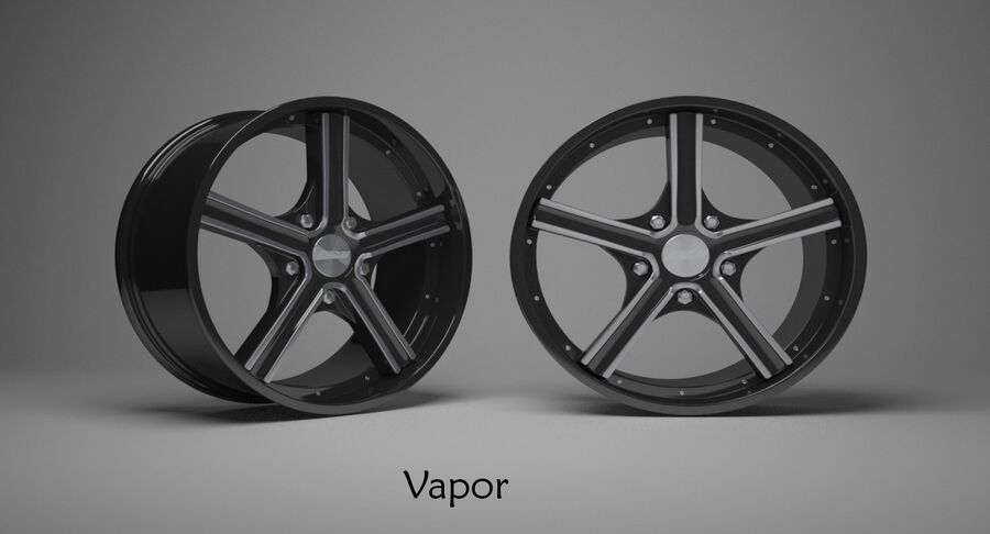 Speedy Wheels Rims Collection royalty-free 3d model - Preview no. 38