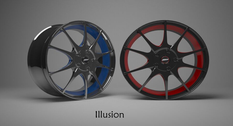 Speedy Wheels Rims Collection royalty-free 3d model - Preview no. 8