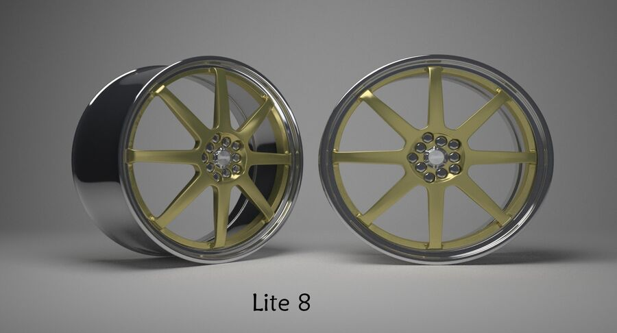 Speedy Wheels Rims Collection royalty-free 3d model - Preview no. 22