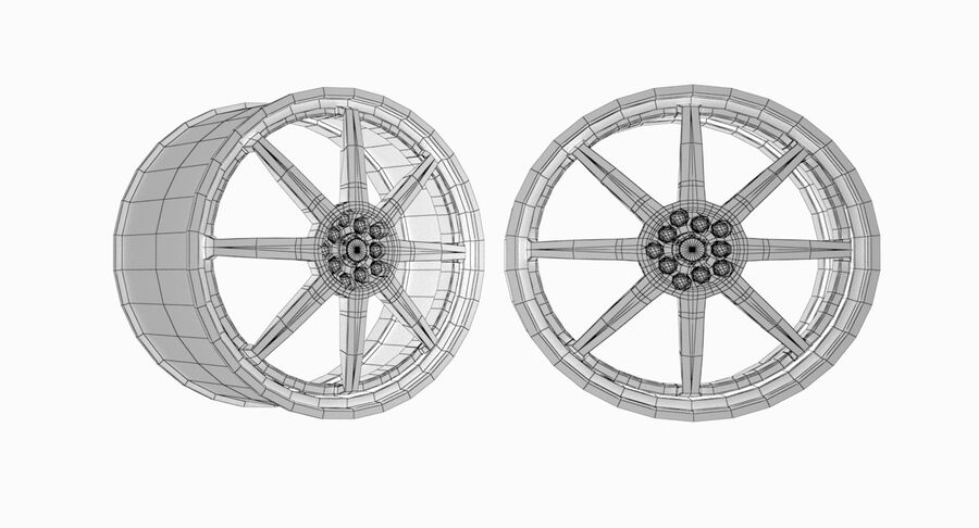 Speedy Wheels Rims Collection royalty-free 3d model - Preview no. 24