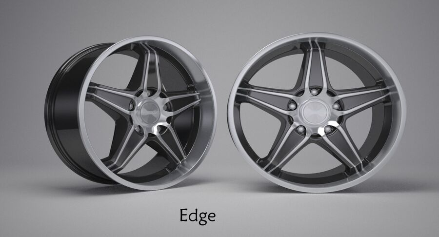 Speedy Wheels Rims Collection royalty-free 3d model - Preview no. 2