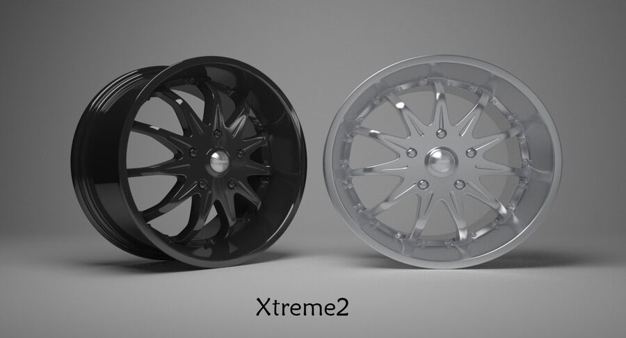 Speedy Wheels Rims Collection royalty-free 3d model - Preview no. 42