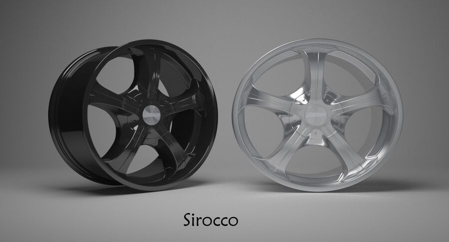 Speedy Wheels Rims Collection royalty-free 3d model - Preview no. 36