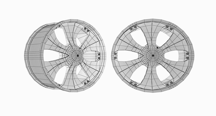 Speedy Wheels Rims Collection royalty-free 3d model - Preview no. 41