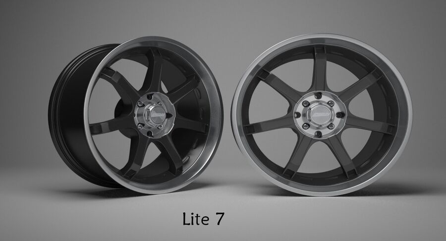 Speedy Wheels Rims Collection royalty-free 3d model - Preview no. 19