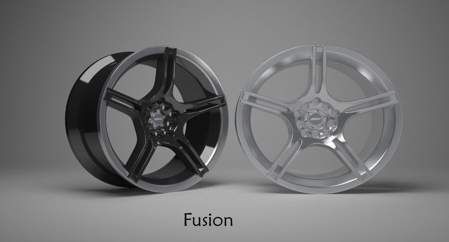 Speedy Wheels Rims Collection royalty-free 3d model - Preview no. 6
