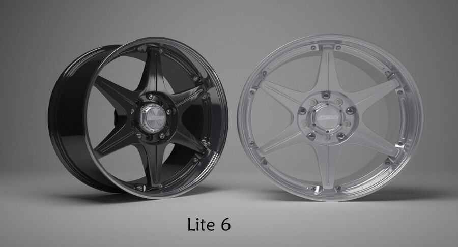 Speedy Wheels Rims Collection royalty-free 3d model - Preview no. 17