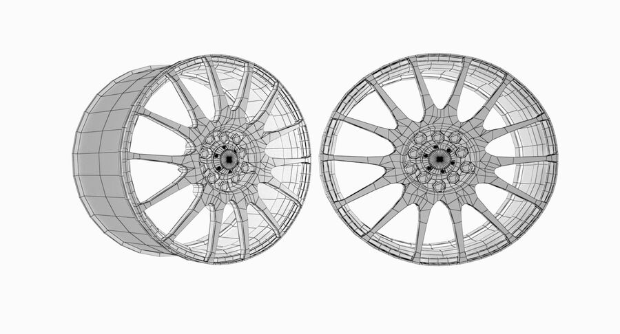 Speedy Wheels Rims Collection royalty-free 3d model - Preview no. 29