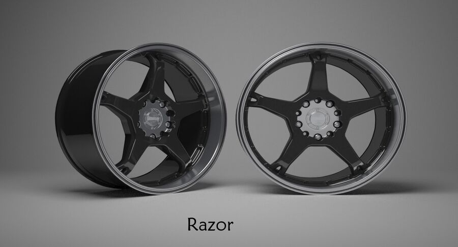Speedy Wheels Rims Collection royalty-free 3d model - Preview no. 34