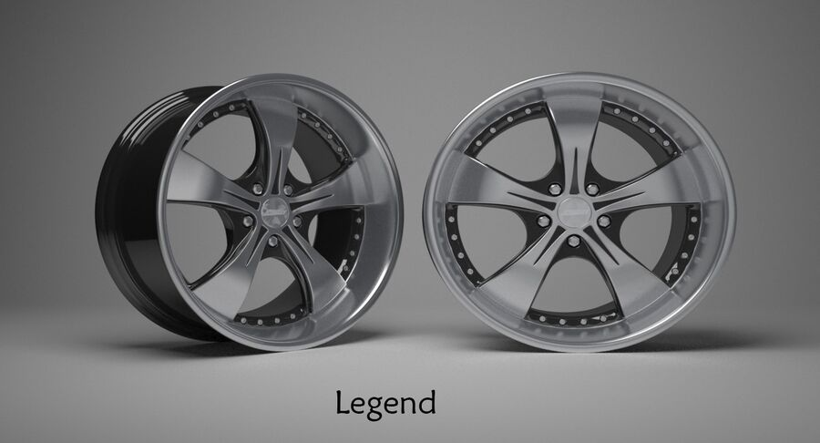 Speedy Wheels Rims Collection royalty-free 3d model - Preview no. 12