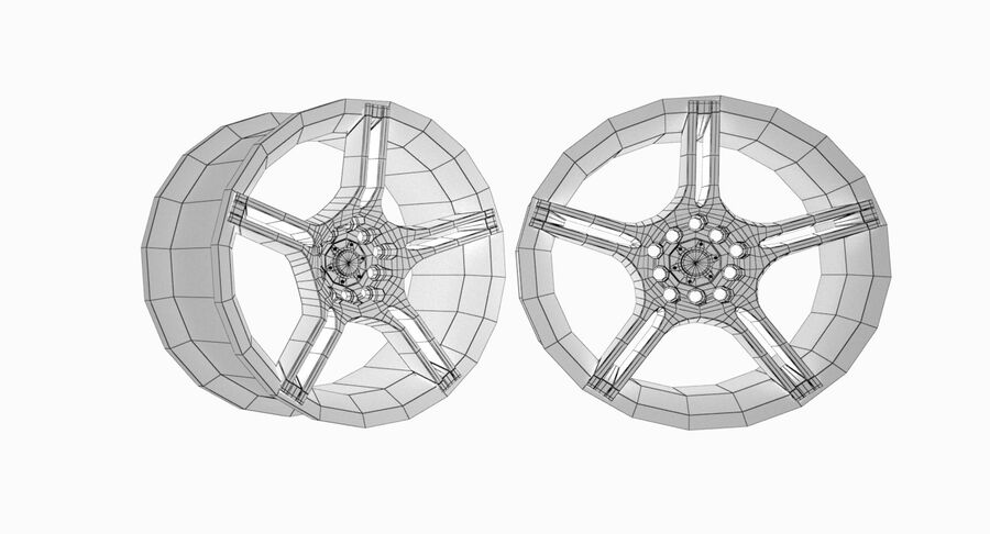 Speedy Wheels Rims Collection royalty-free 3d model - Preview no. 7
