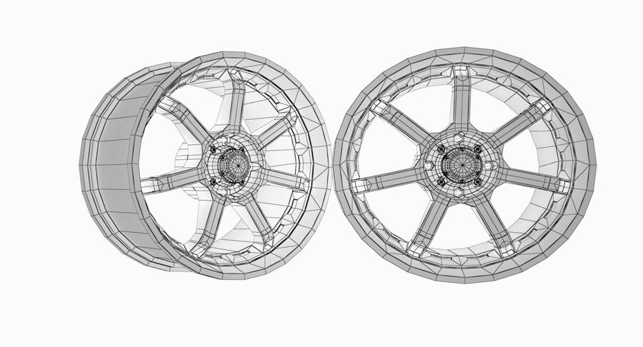 Speedy Wheels Rims Collection royalty-free 3d model - Preview no. 21