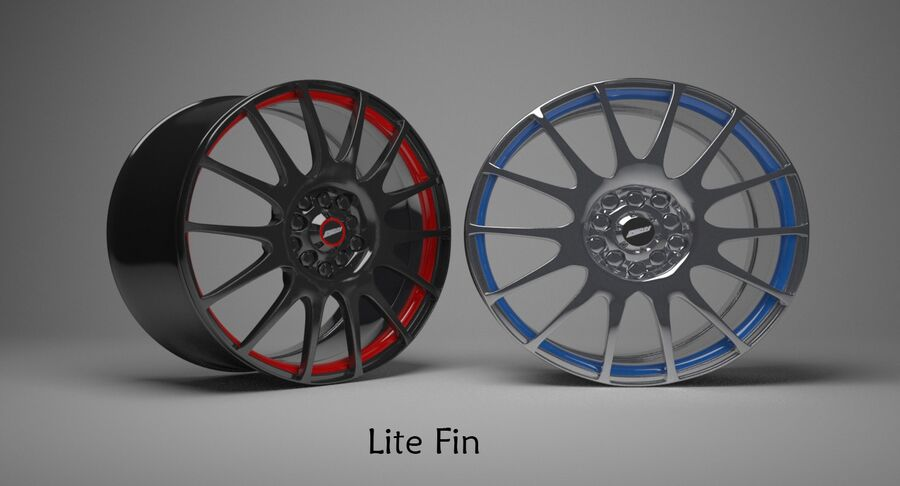 Speedy Wheels Rims Collection royalty-free 3d model - Preview no. 27