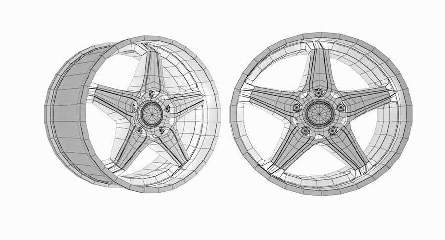 Speedy Wheels Rims Collection royalty-free 3d model - Preview no. 3