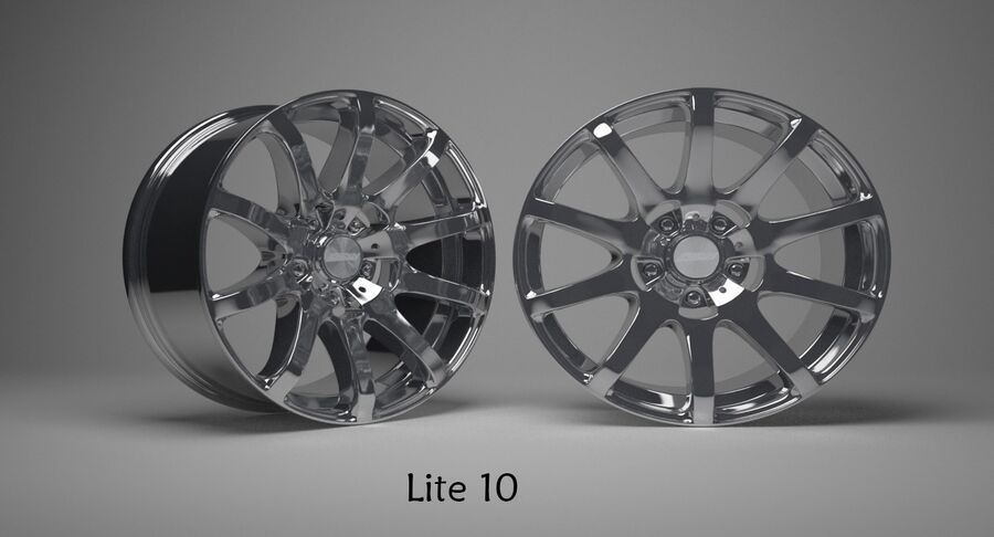 Speedy Wheels Rims Collection royalty-free 3d model - Preview no. 25