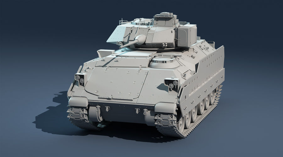 M2A2 Bradley Untextured royalty-free 3d model - Preview no. 2