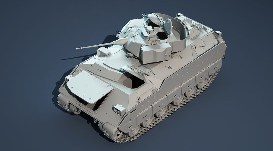M2A2 Bradley Untextured royalty-free 3d model - Preview no. 4