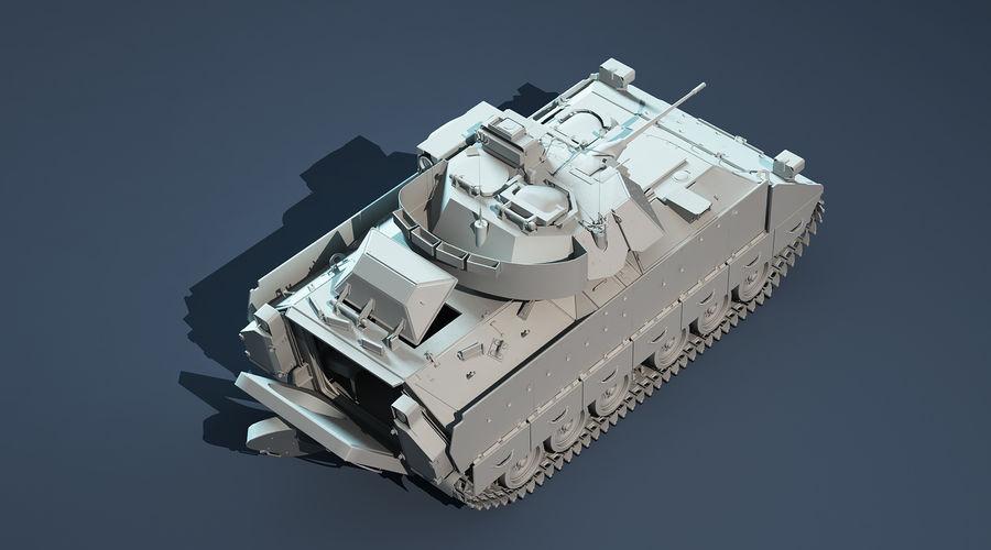 M2A2 Bradley Untextured royalty-free 3d model - Preview no. 6