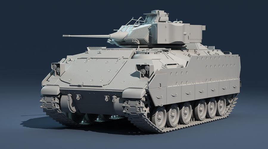 M2A2 Bradley Untextured royalty-free 3d model - Preview no. 3