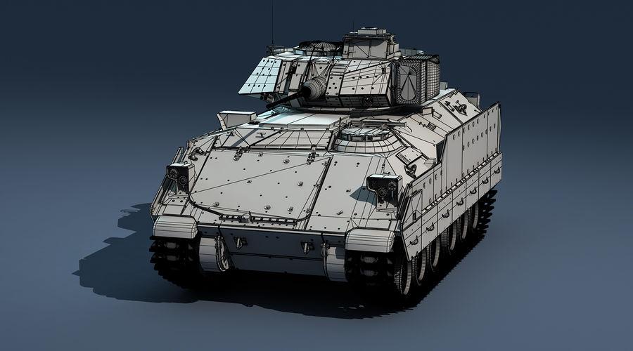 M2A2 Bradley Untextured royalty-free 3d model - Preview no. 8