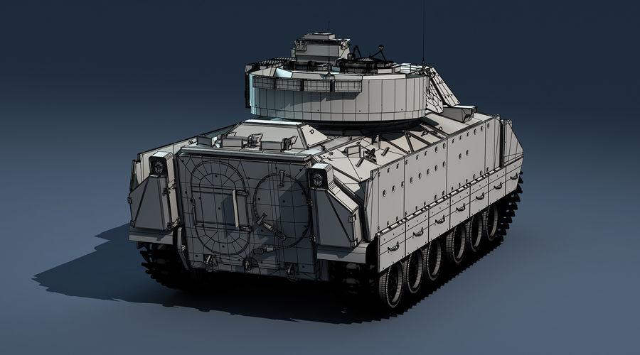 M2A2 Bradley Untextured royalty-free 3d model - Preview no. 9