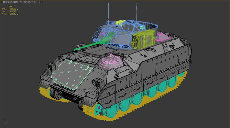 M2A2 Bradley Untextured royalty-free 3d model - Preview no. 10
