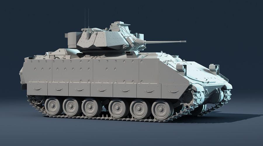 M2A2 Bradley Untextured royalty-free 3d model - Preview no. 7