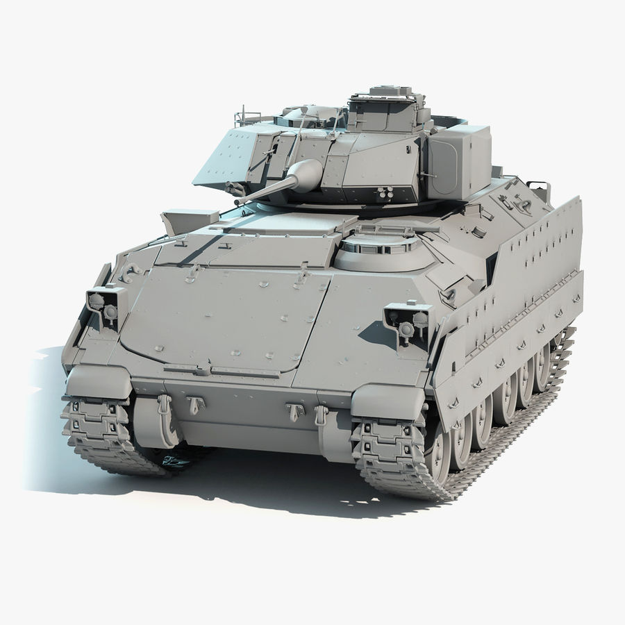 M2A2 Bradley Untextured royalty-free 3d model - Preview no. 1