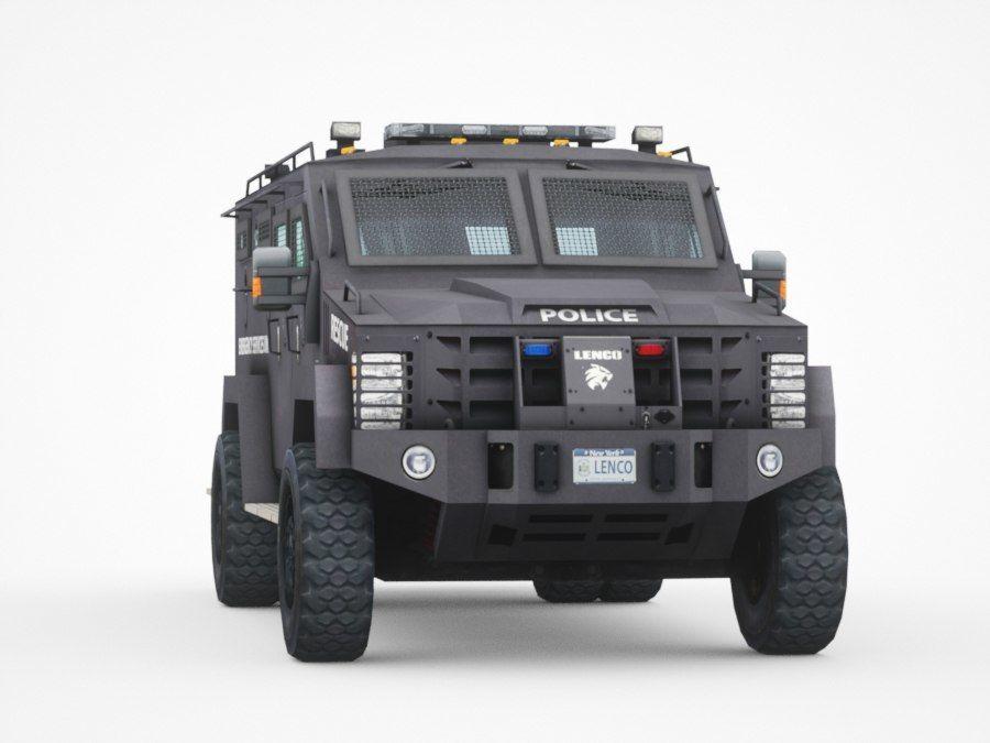 警察Lenco Bearcat装甲车 royalty-free 3d model - Preview no. 6
