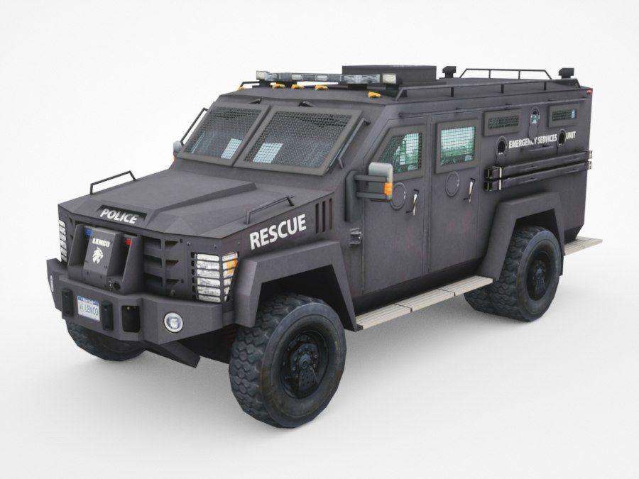 警察Lenco Bearcat装甲车 royalty-free 3d model - Preview no. 1