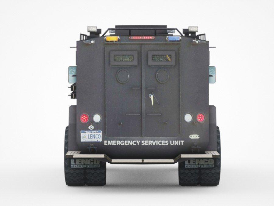 警察Lenco Bearcat装甲车 royalty-free 3d model - Preview no. 5