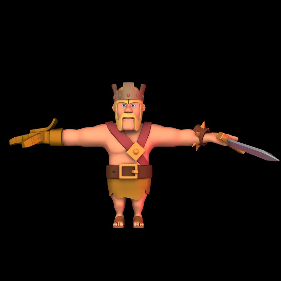 Barbarian King royalty-free 3d model - Preview no. 5