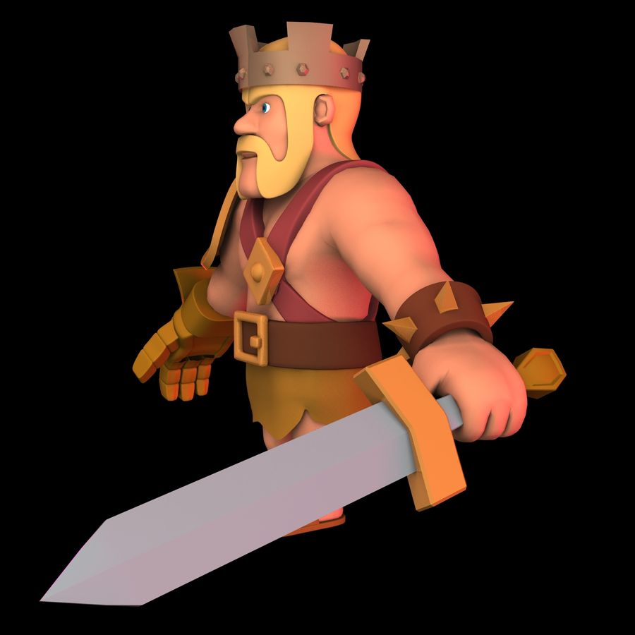Barbarian King royalty-free 3d model - Preview no. 4