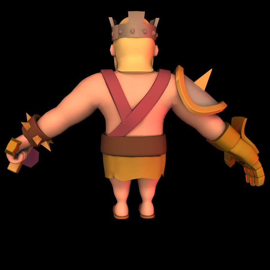 Barbarian King royalty-free 3d model - Preview no. 6
