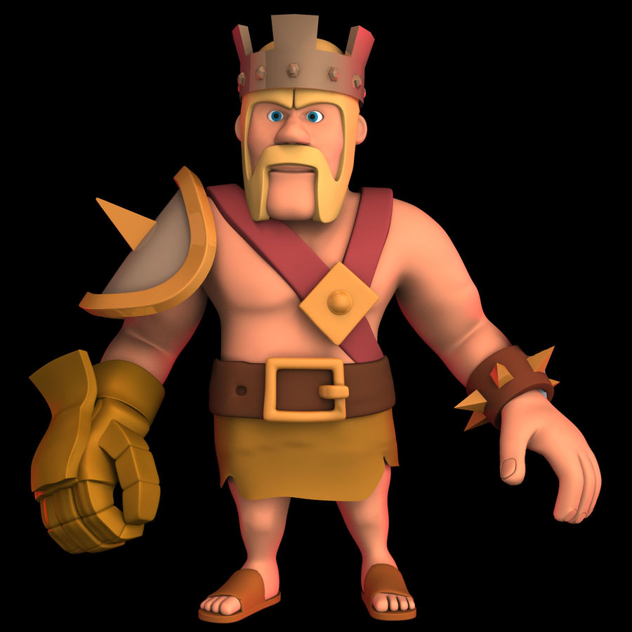 Barbarian King royalty-free 3d model - Preview no. 3