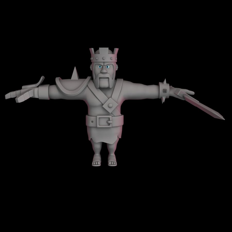 Barbarian King royalty-free 3d model - Preview no. 7