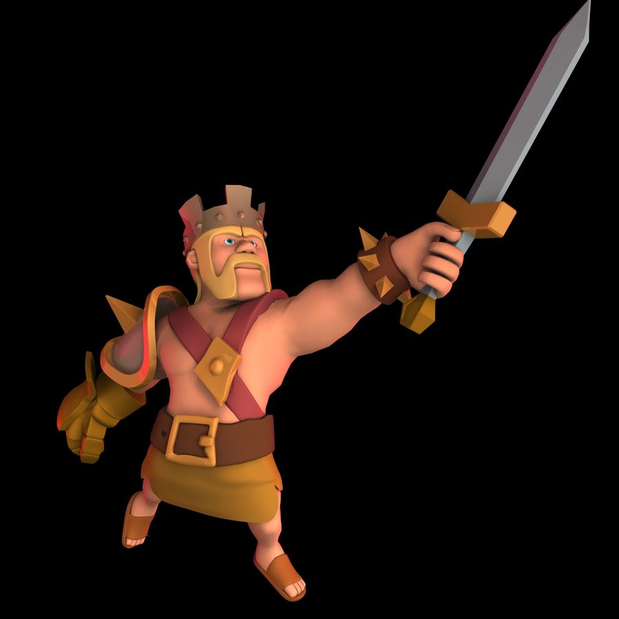 Barbarian King royalty-free 3d model - Preview no. 2