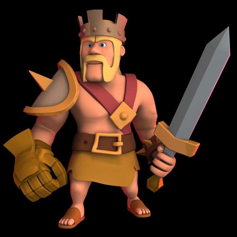 Barbarian King royalty-free 3d model - Preview no. 1