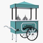 Carrello gelato retrò 3d model