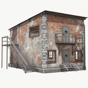 Brick Building Low Poly PBR 3d model