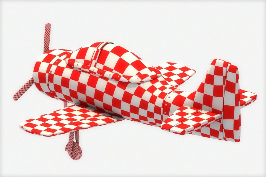 Cartoon Airplane royalty-free 3d model - Preview no. 9