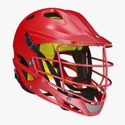 Red Lacrosse Helmet Generic 3d model