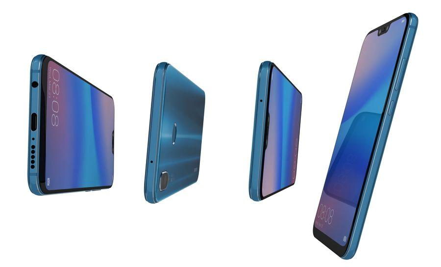 ファーウェイP20ライトクラインブルー royalty-free 3d model - Preview no. 13